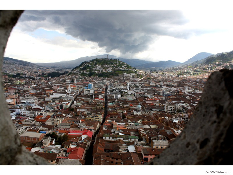 Quito view from top of the basilica tower
